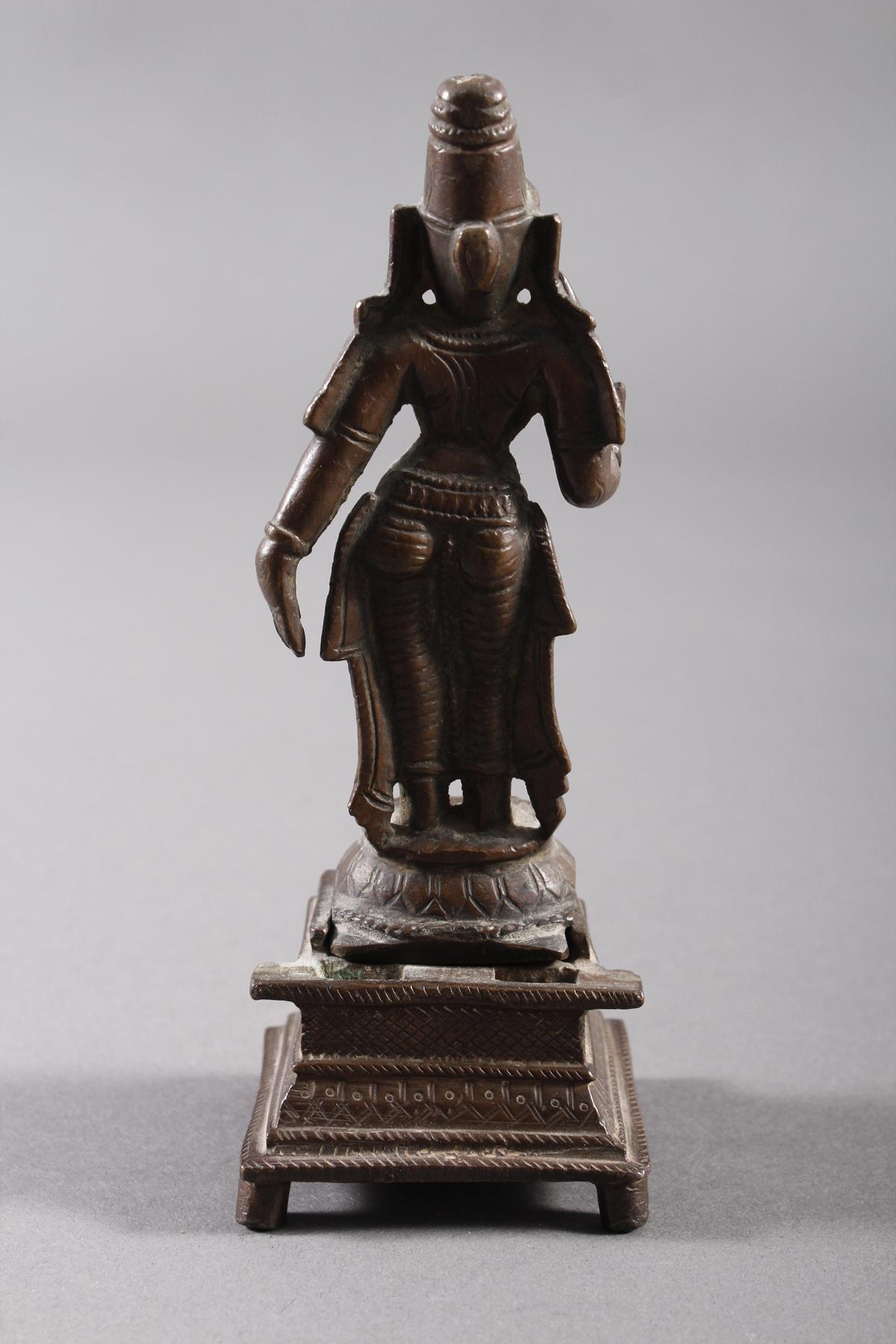 Bronze, Hinduistische Gottheit, Indien, 18. / 19. Jahrhundert-8