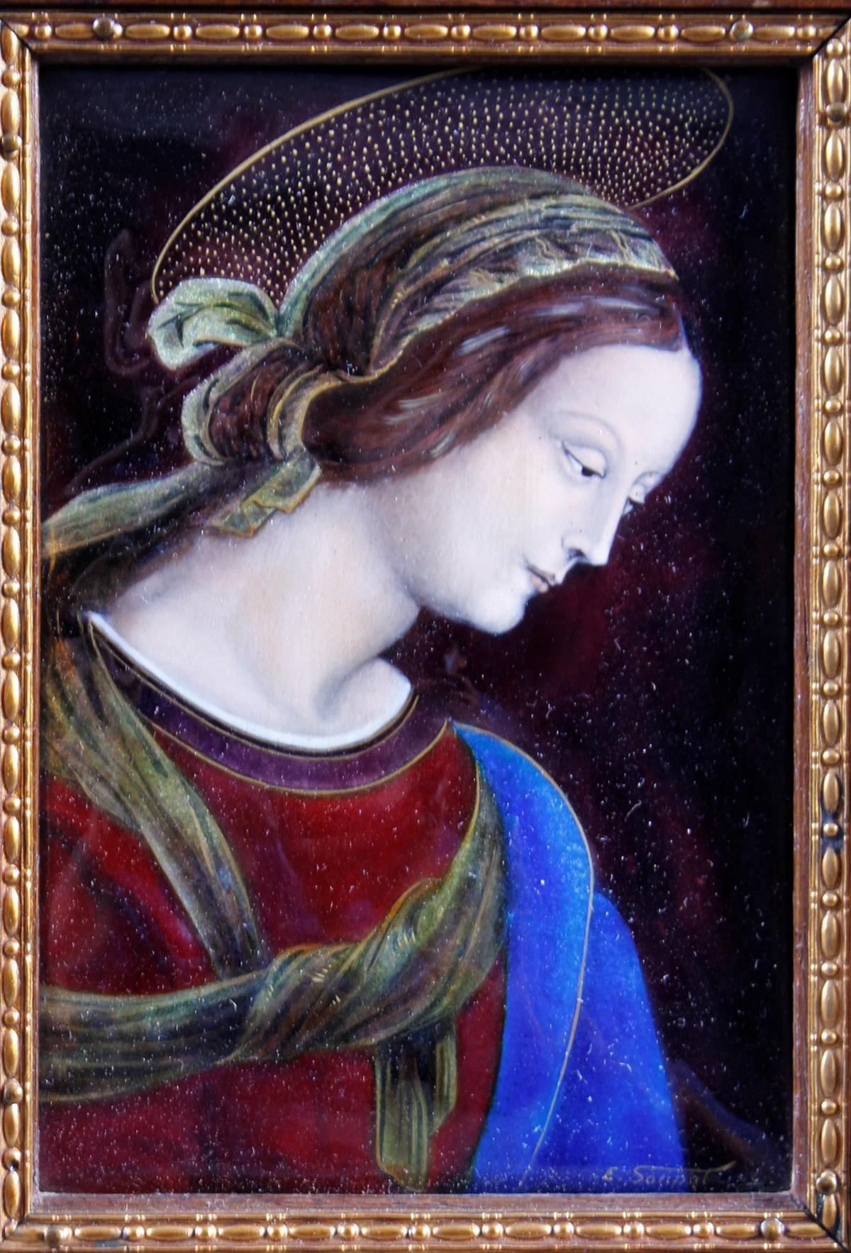 Emaillebild, Limoges, Signiert E. Soupal um 1900-2