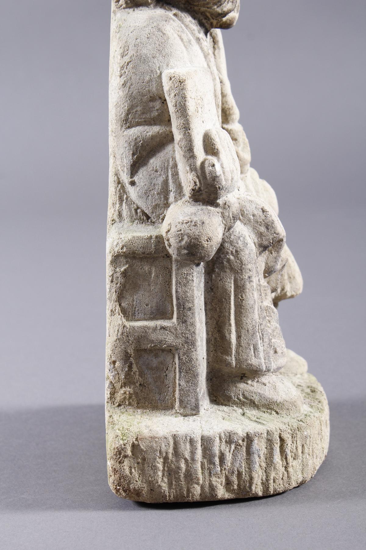 Sandstein Gußrelief, Heiliger-5