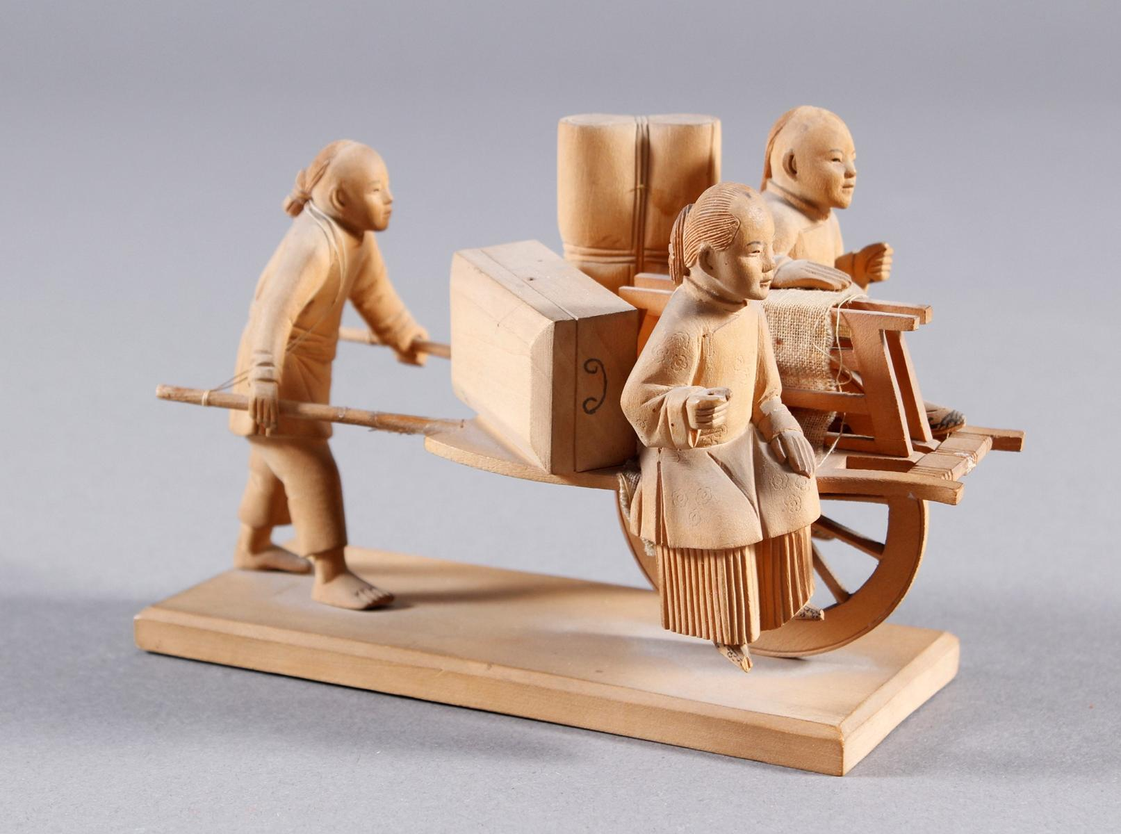 Holzschnitzerei, China um 1900