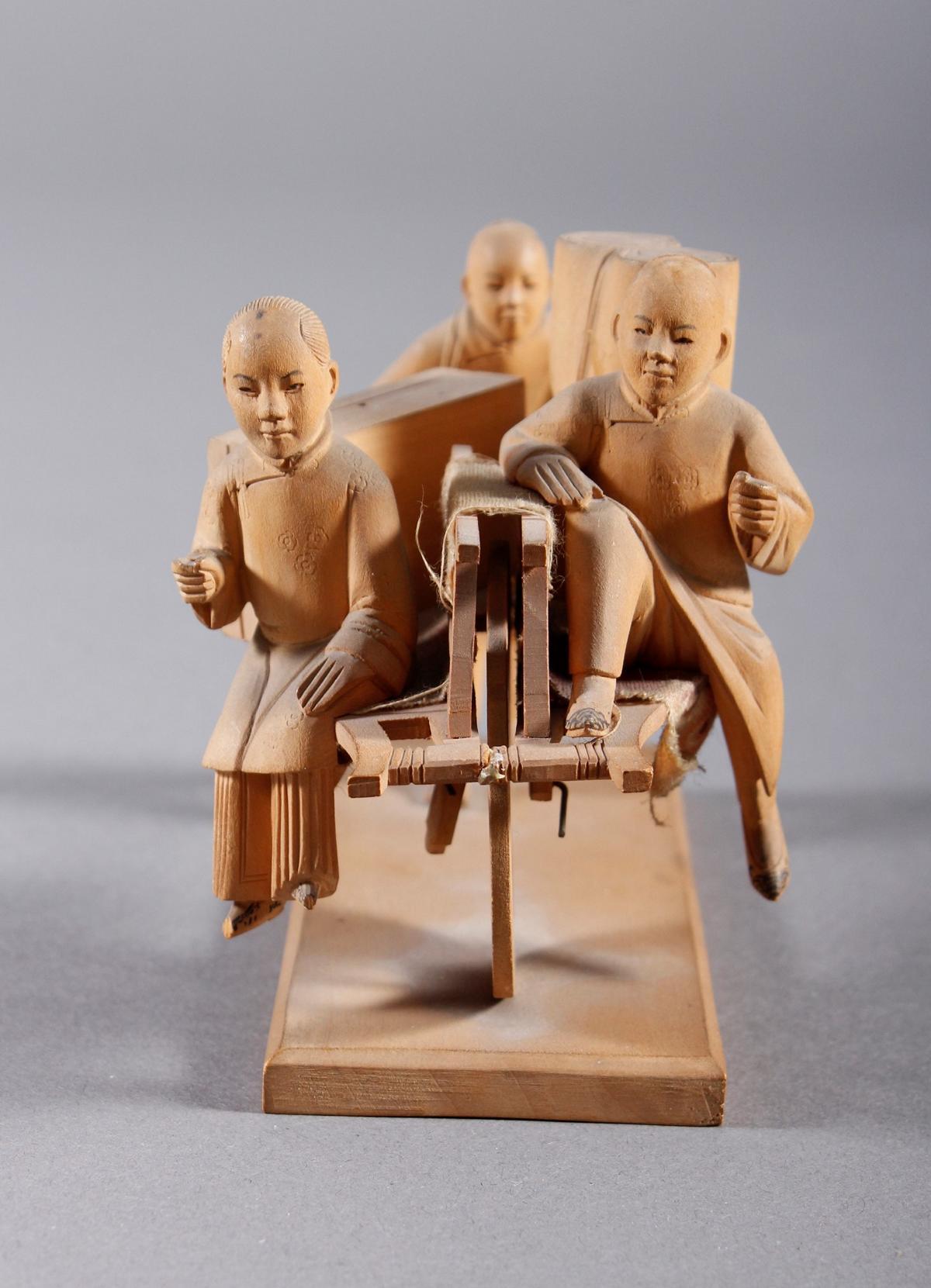 Holzschnitzerei, China um 1900-2