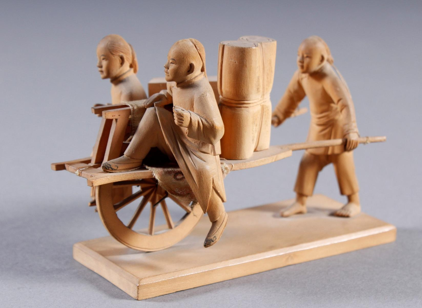 Holzschnitzerei, China um 1900-3