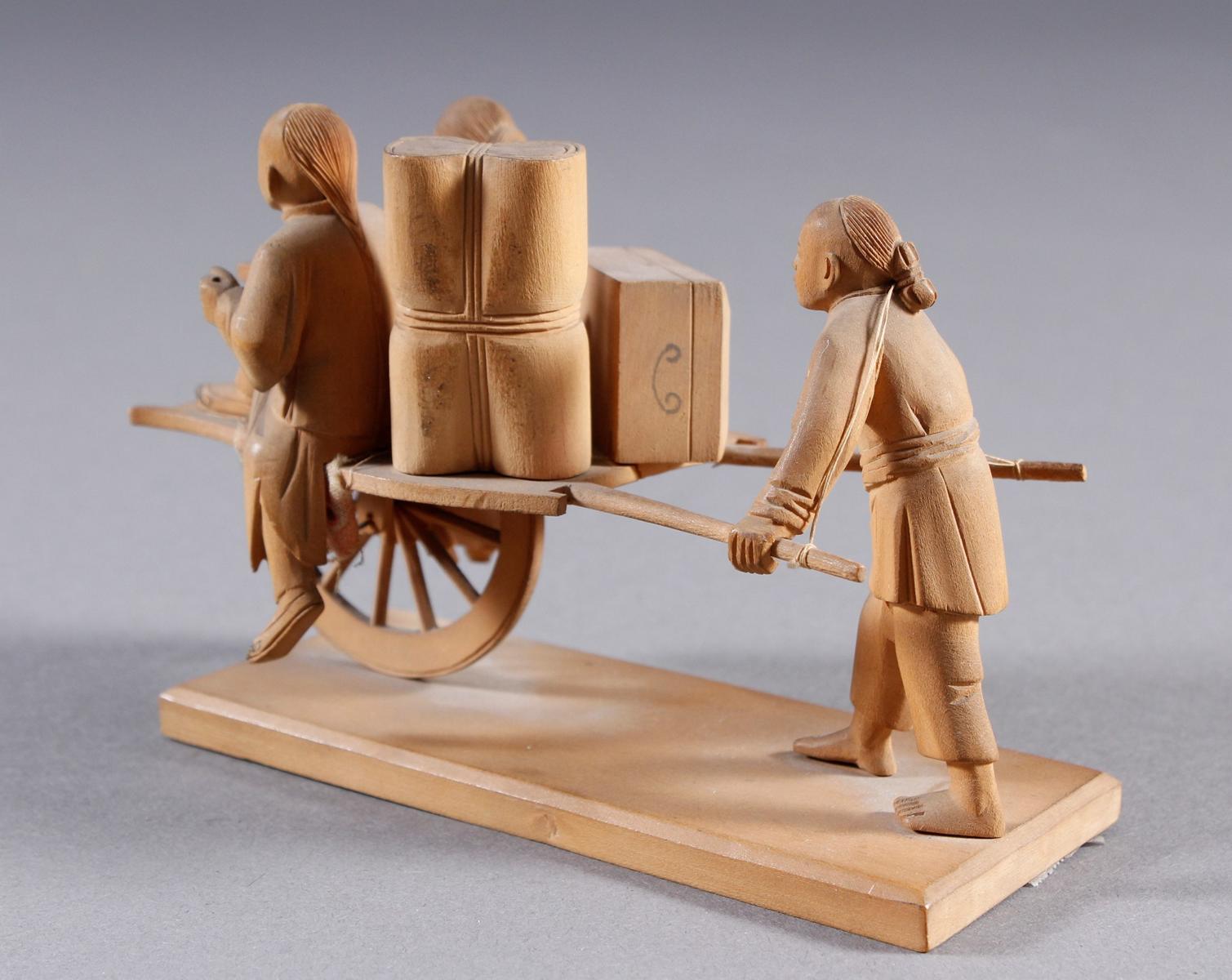 Holzschnitzerei, China um 1900-4