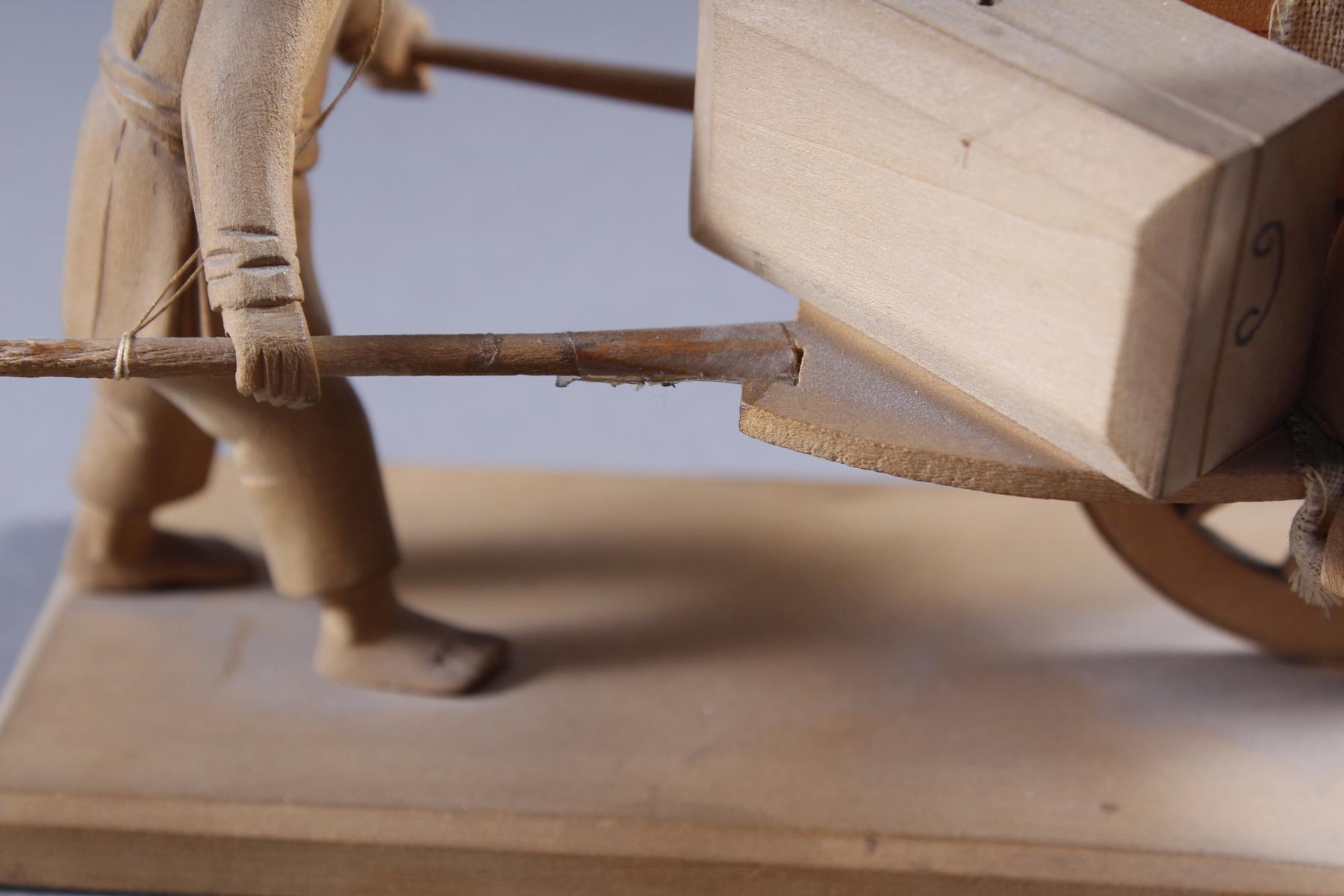 Holzschnitzerei, China um 1900-6