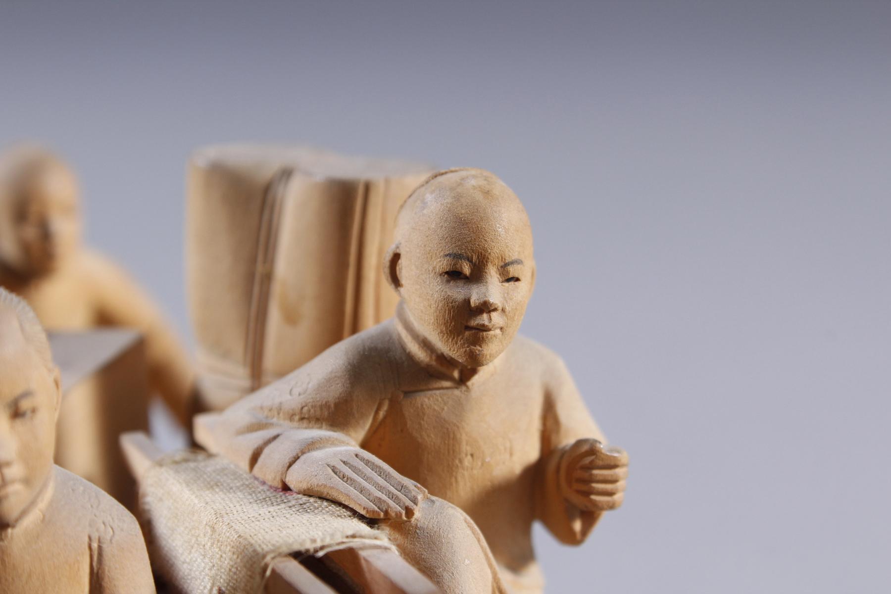 Holzschnitzerei, China um 1900-7