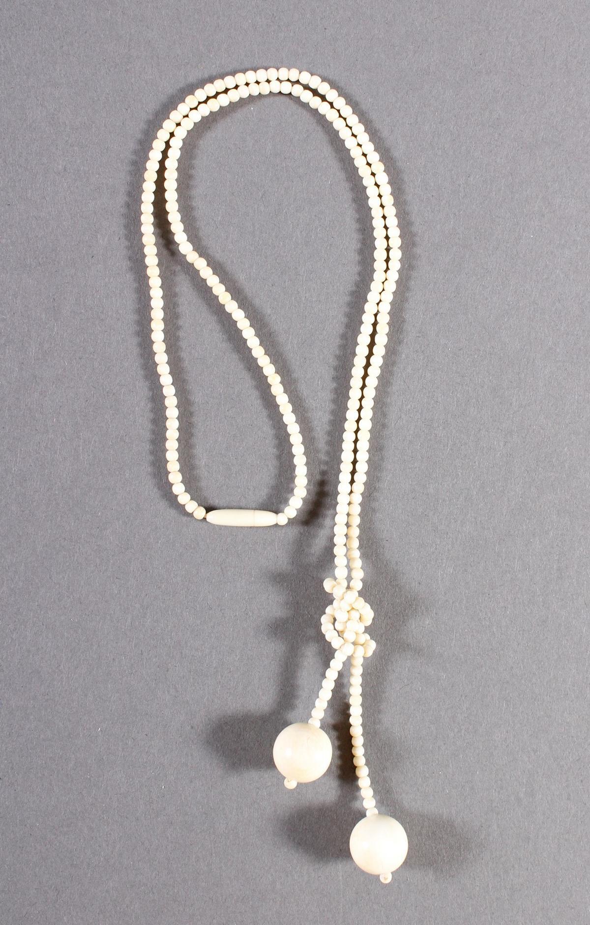Halskette, Elfenbein, Charlestonkette, Deutsch um 1920-2