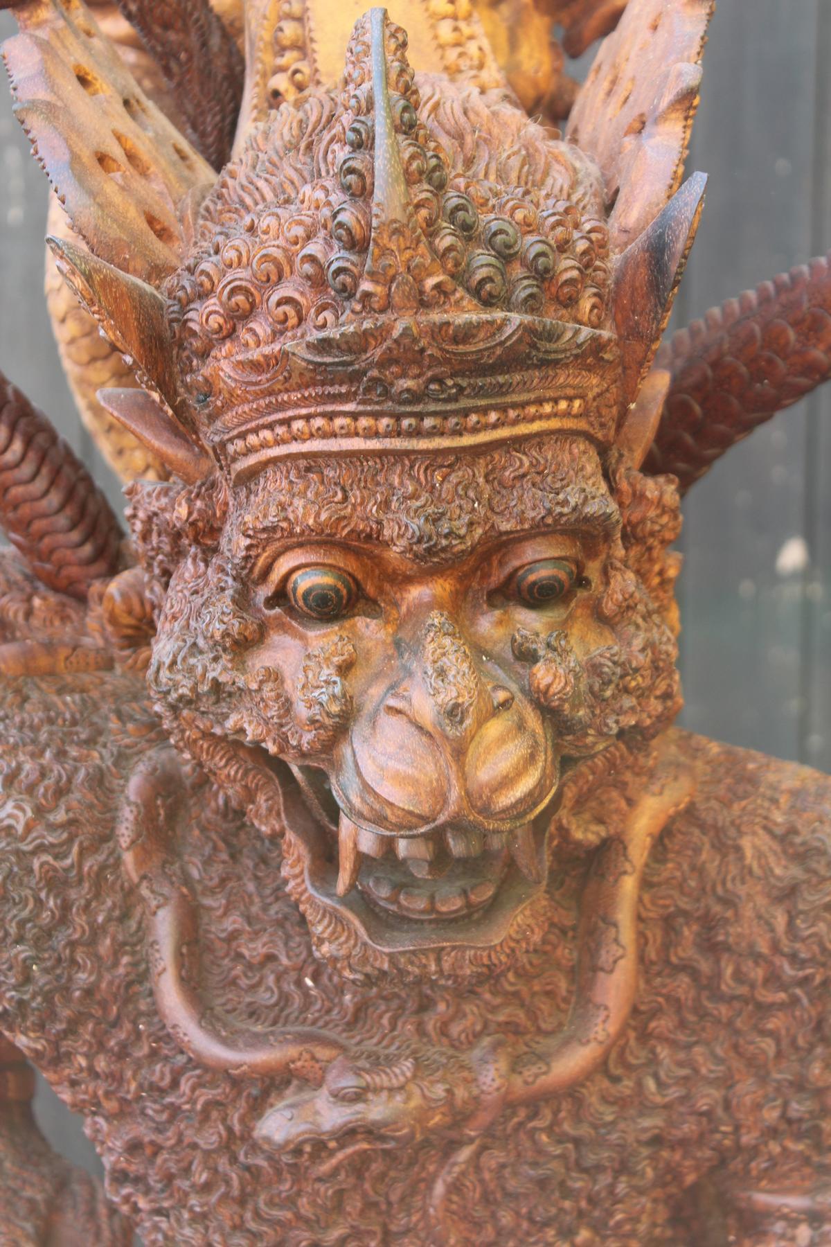 Große Holzskulptur, Indonesien / Bali, 2. Hälfte 20. Jahrhundert-4