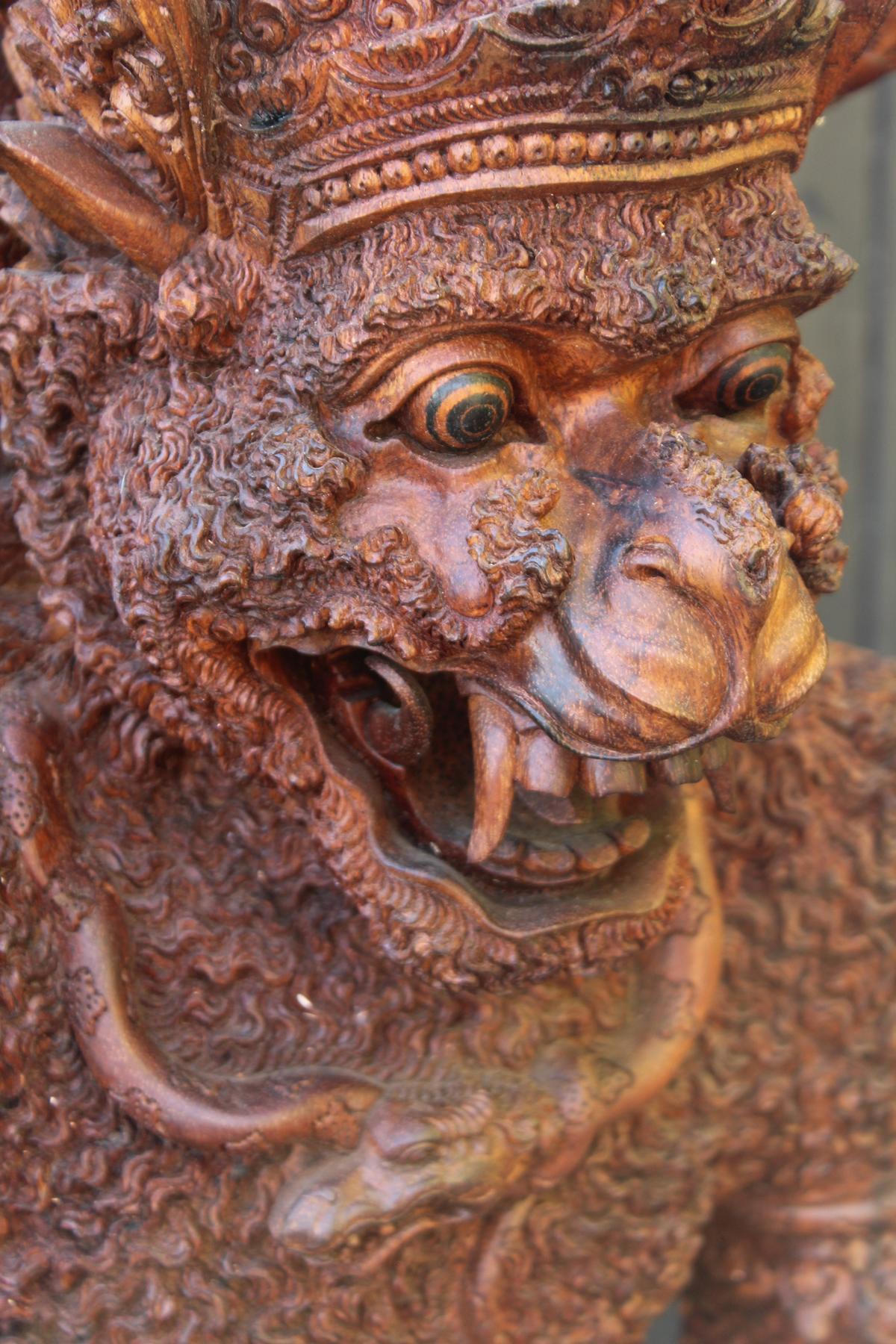 Große Holzskulptur, Indonesien / Bali, 2. Hälfte 20. Jahrhundert-5
