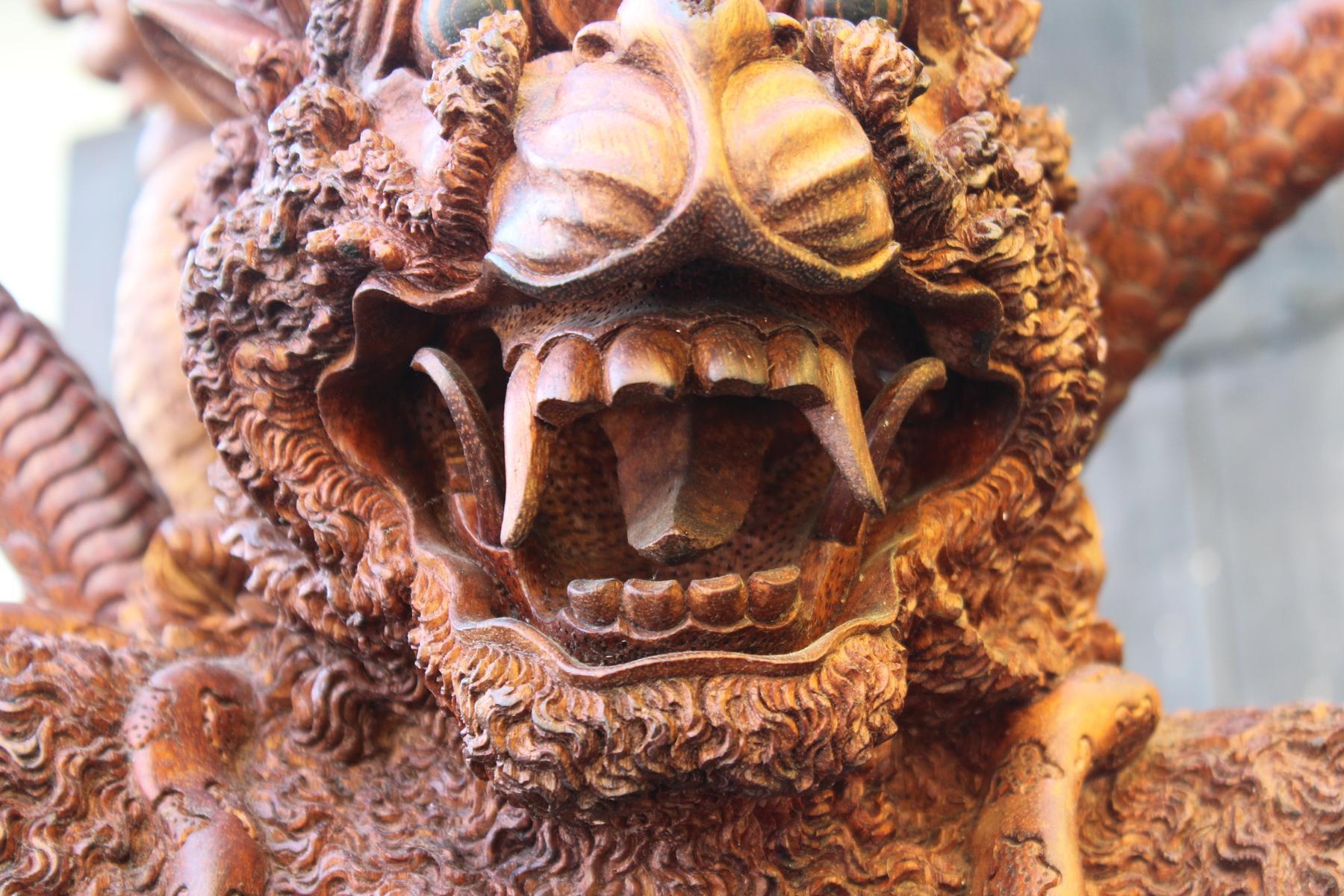 Große Holzskulptur, Indonesien / Bali, 2. Hälfte 20. Jahrhundert-6