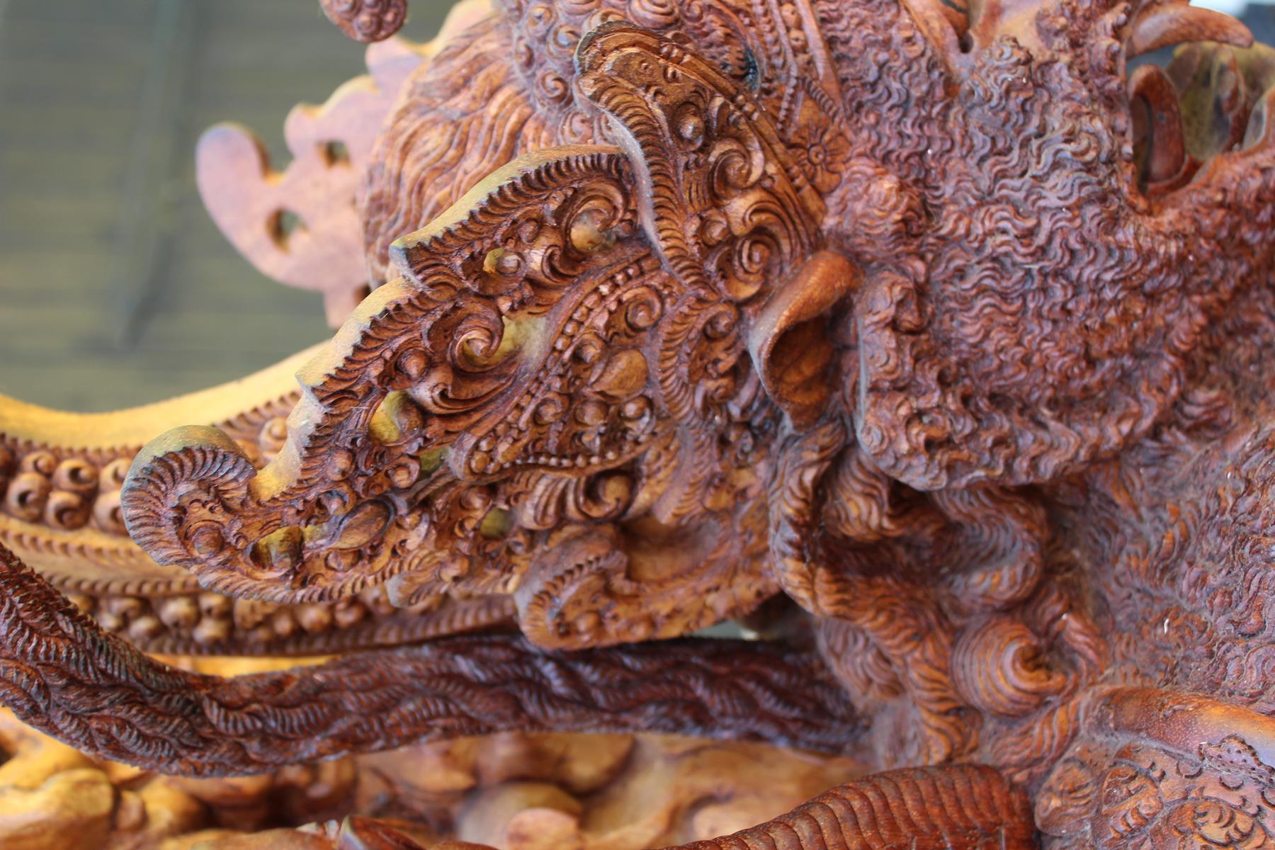 Große Holzskulptur, Indonesien / Bali, 2. Hälfte 20. Jahrhundert-7
