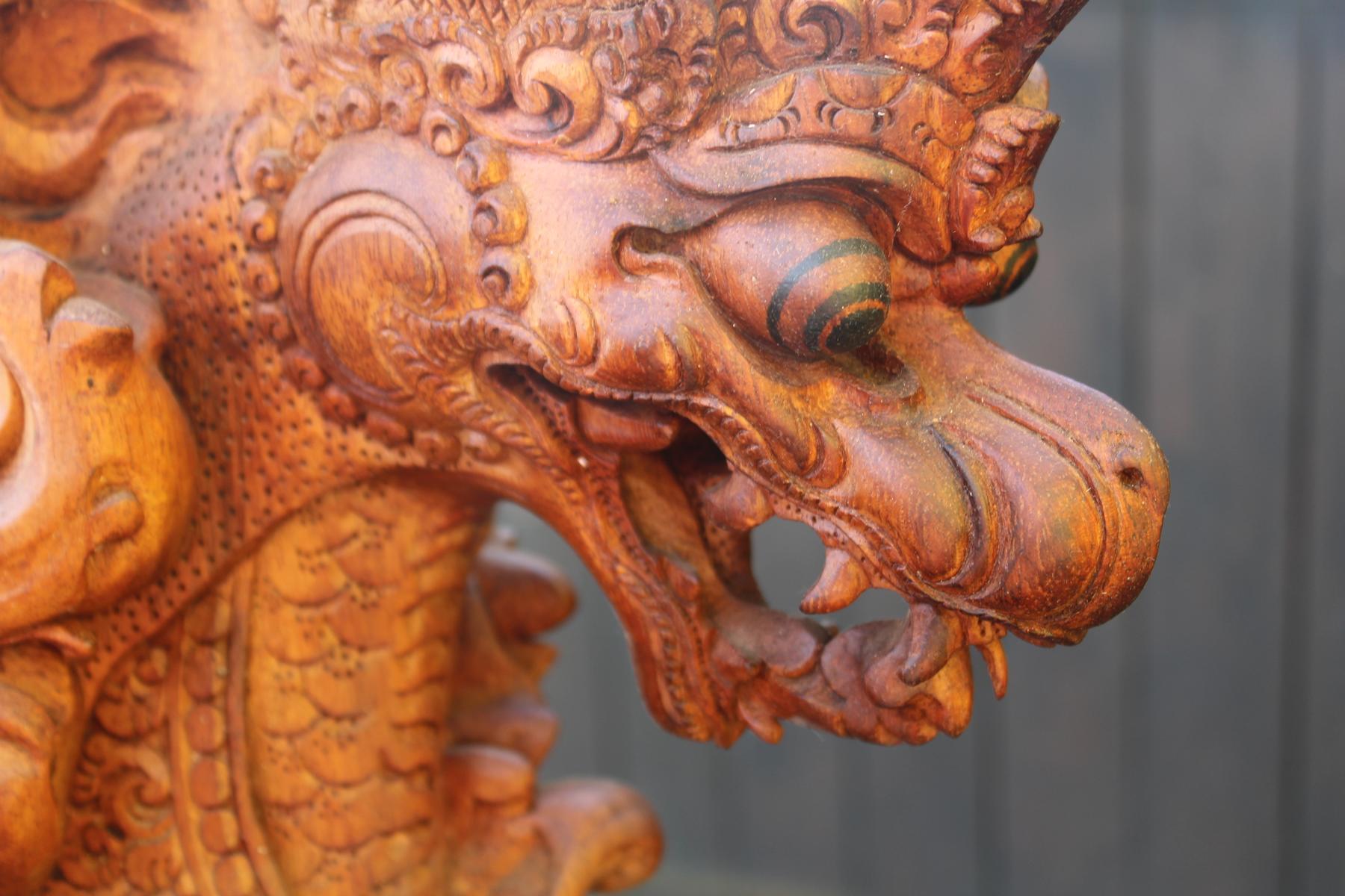 Große Holzskulptur, Indonesien / Bali, 2. Hälfte 20. Jahrhundert-10