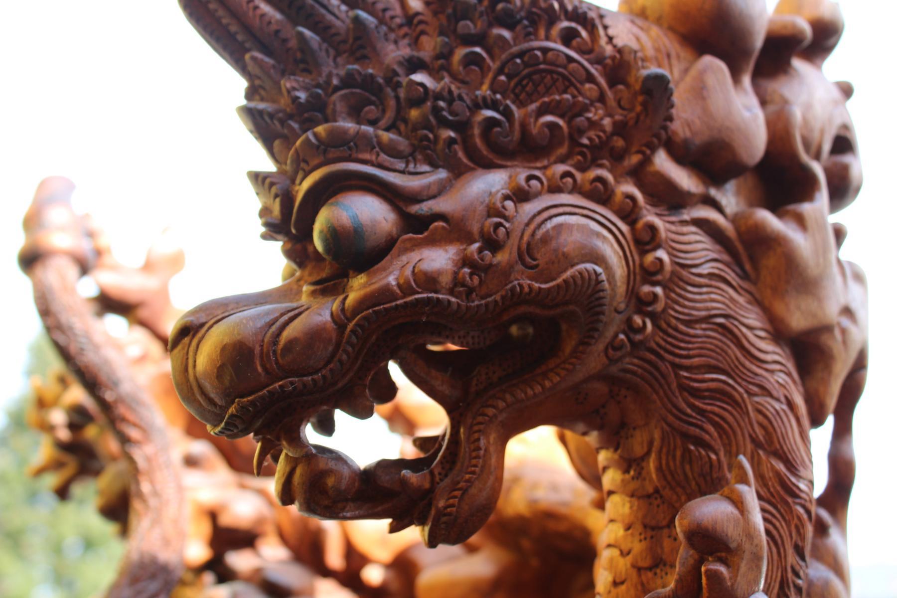 Große Holzskulptur, Indonesien / Bali, 2. Hälfte 20. Jahrhundert-11