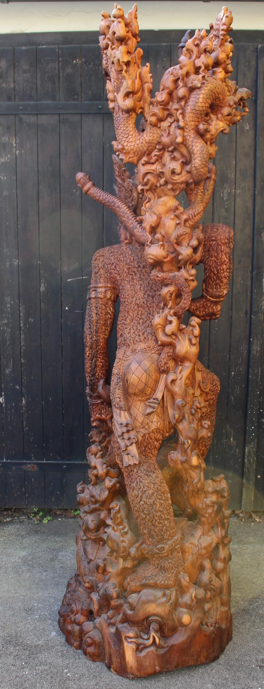 Große Holzskulptur, Indonesien / Bali, 2. Hälfte 20. Jahrhundert-14