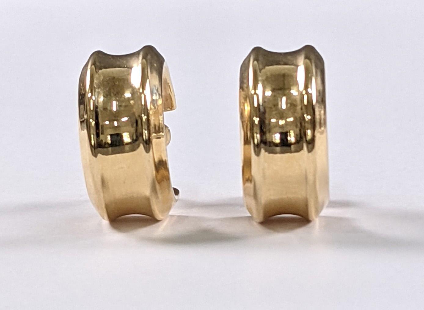 Paar Creolen, 14 Karat Gelbgold