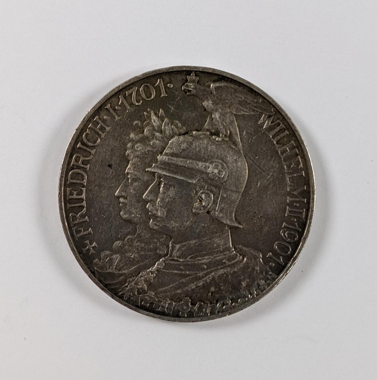 Deutsches Reich, 5 Mark Friedrich Wilhelm 1901-2