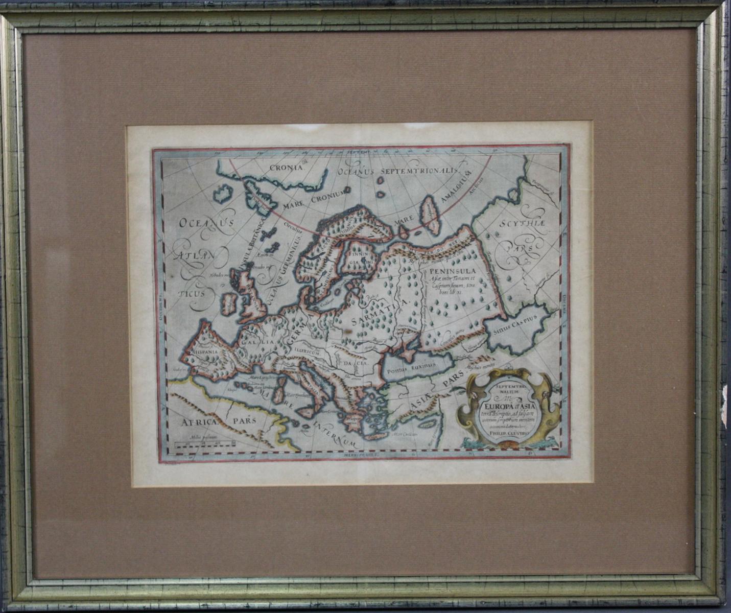 Philipp Clüver (1580-1623). 'Europa et Asien'