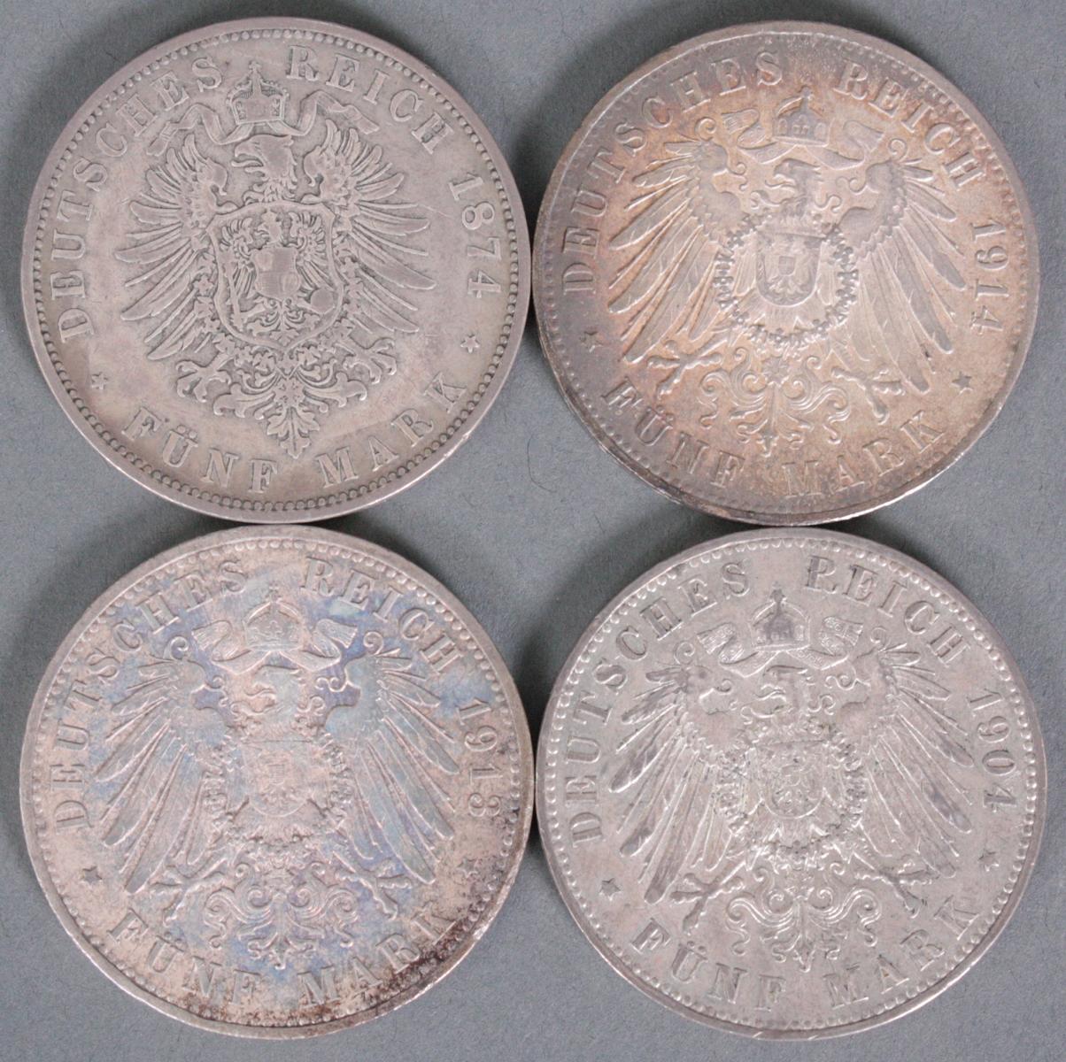 5 Reichsmark Preußen, 4 Münzen-2