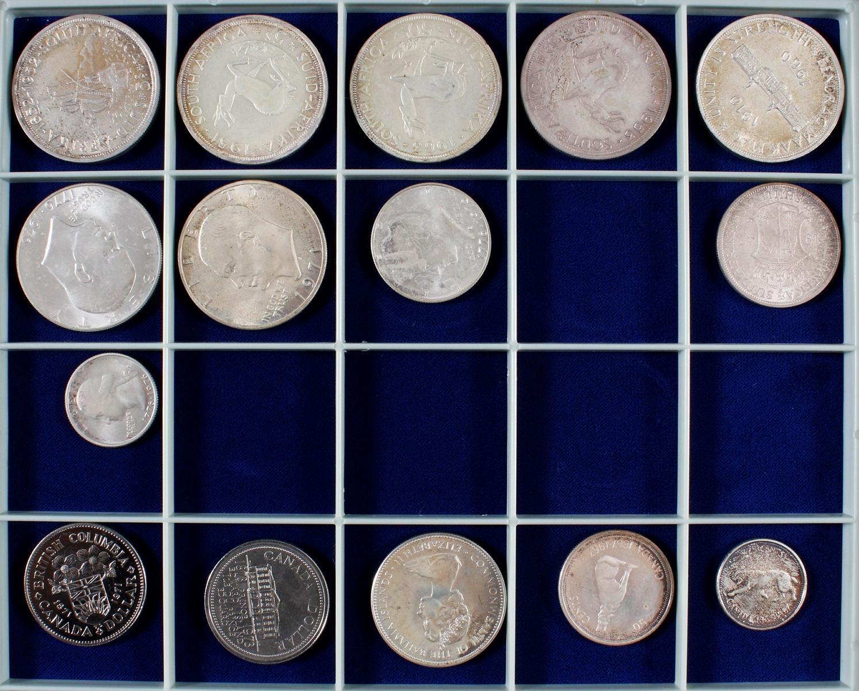 Konvolut Münzen, Südafrika, Kanada und USA, darunter viel Silber