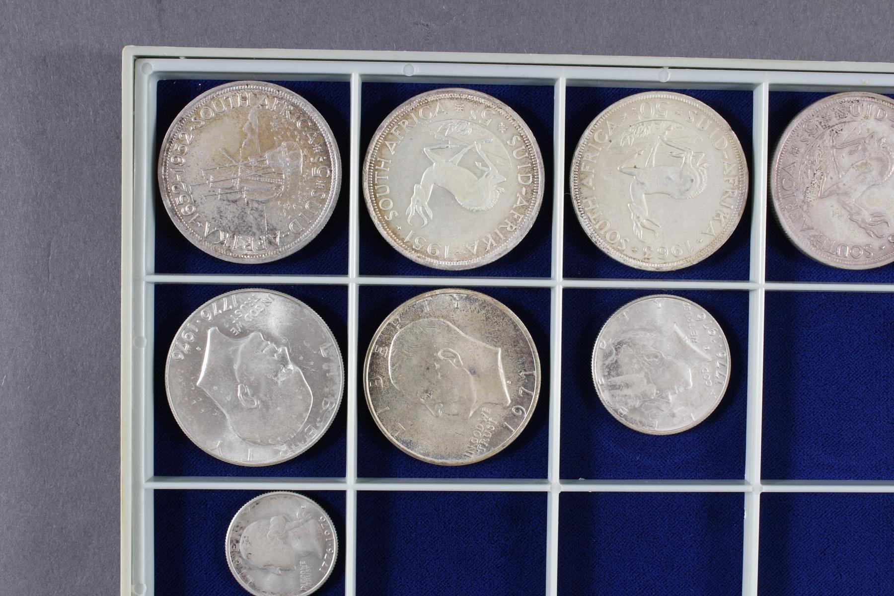 Konvolut Münzen, Südafrika, Kanada und USA, darunter viel Silber-2