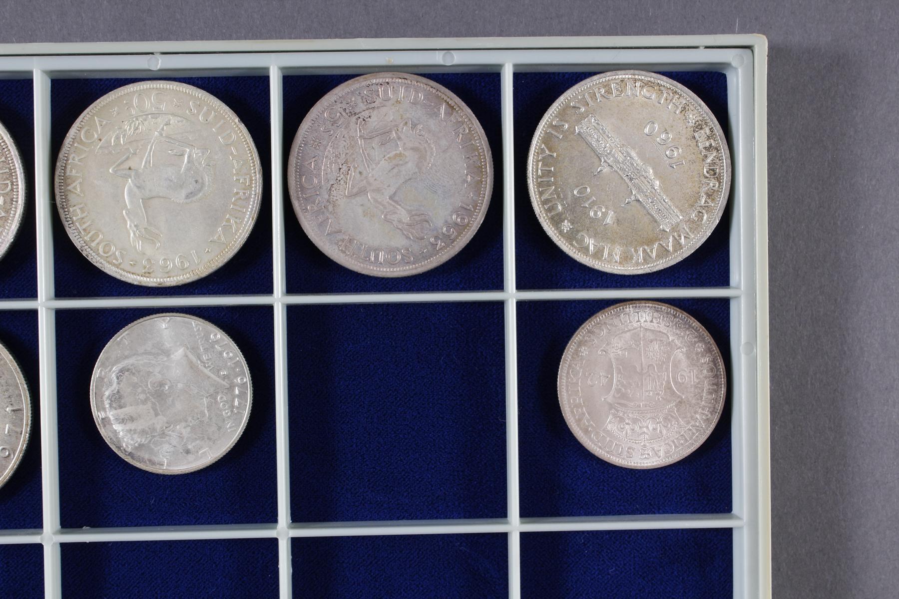 Konvolut Münzen, Südafrika, Kanada und USA, darunter viel Silber-3