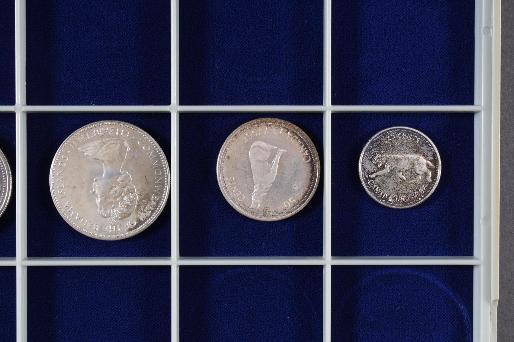 Konvolut Münzen, Südafrika, Kanada und USA, darunter viel Silber-5