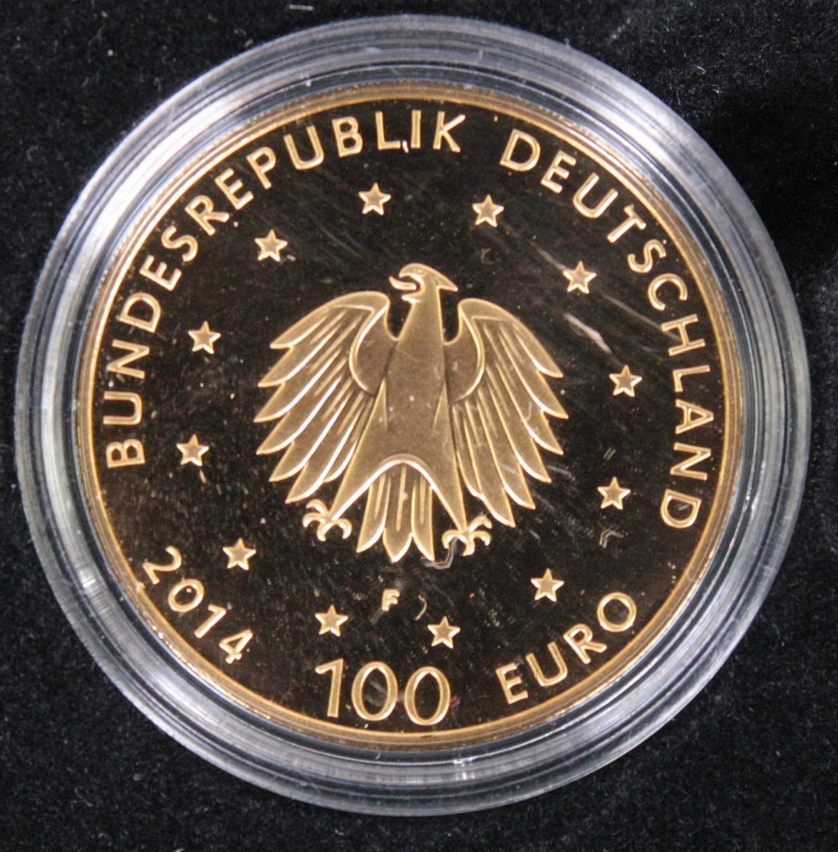 100 Euro Deutschland, Goldmünze, Jahrgang 2014