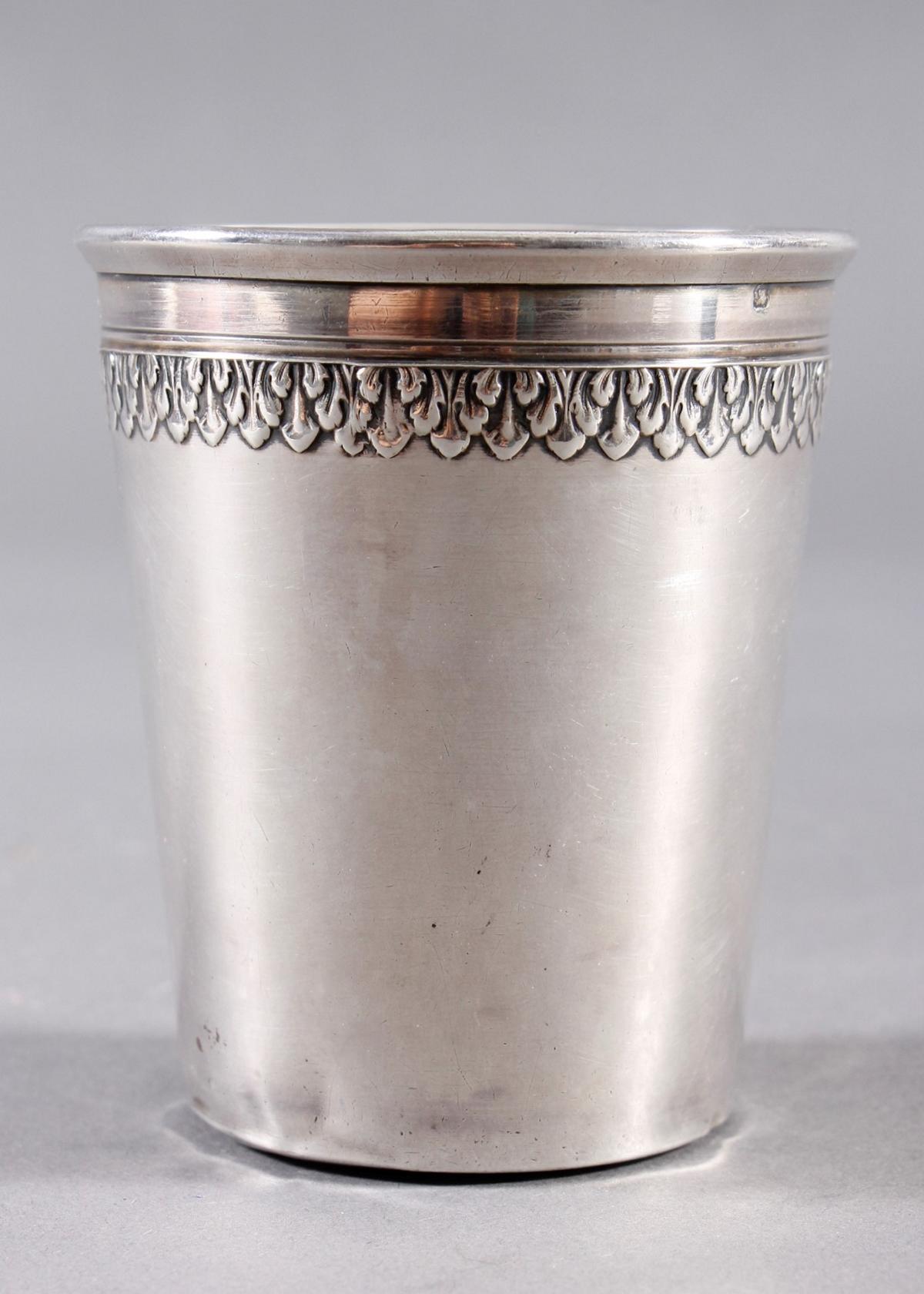 Silberbecher, Frankreich ab 1838, Silber 950