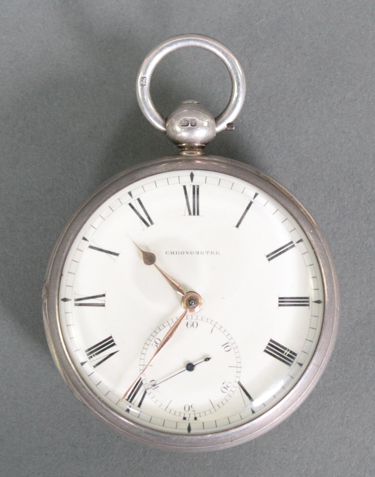 Schwere Taschenuhr, England 1. Hälfte 19. Jh. Chronometer