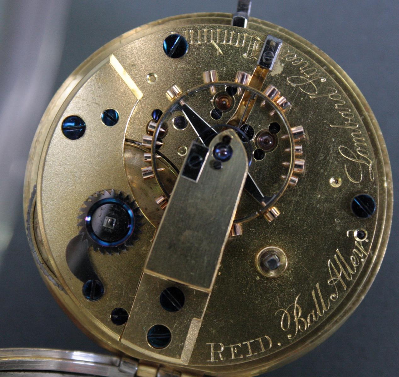 Schwere Taschenuhr, England 1. Hälfte 19. Jh. Chronometer-3