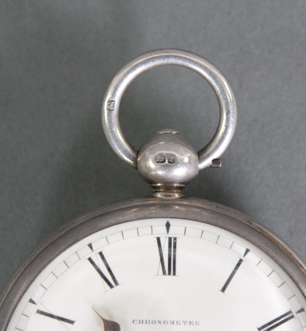 Schwere Taschenuhr, England 1. Hälfte 19. Jh. Chronometer-5