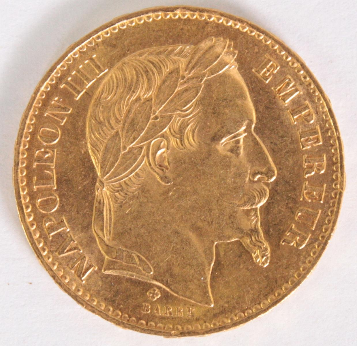 Frankreich, 20 Francs 1869, Napoleon III