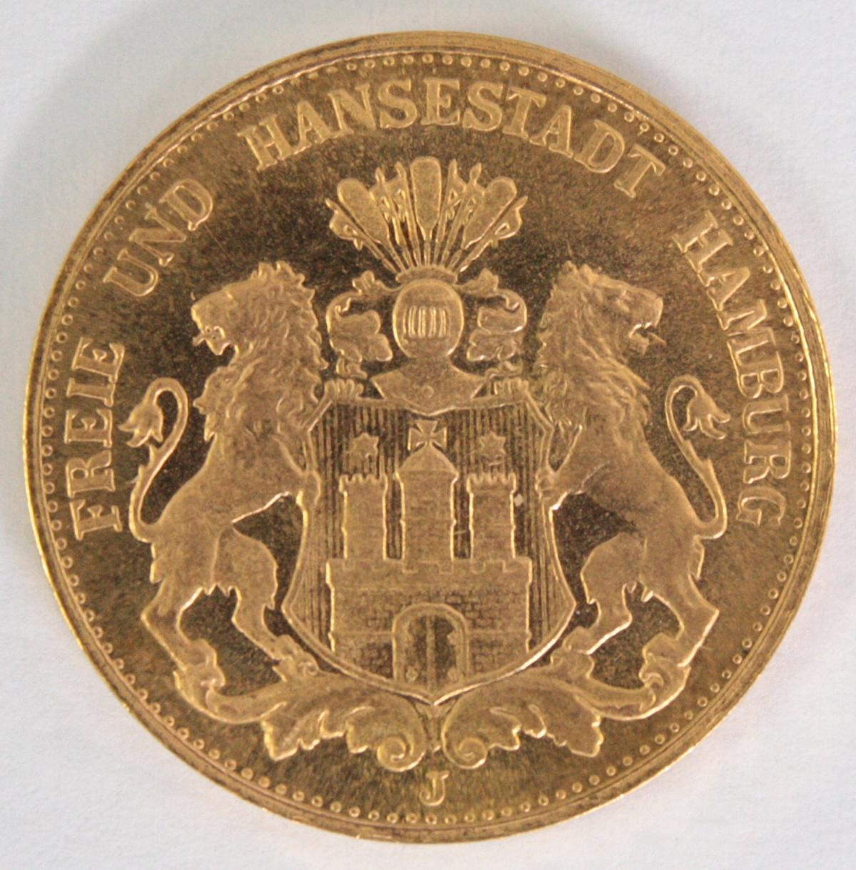 Hamburg 1875, 20 Mark
