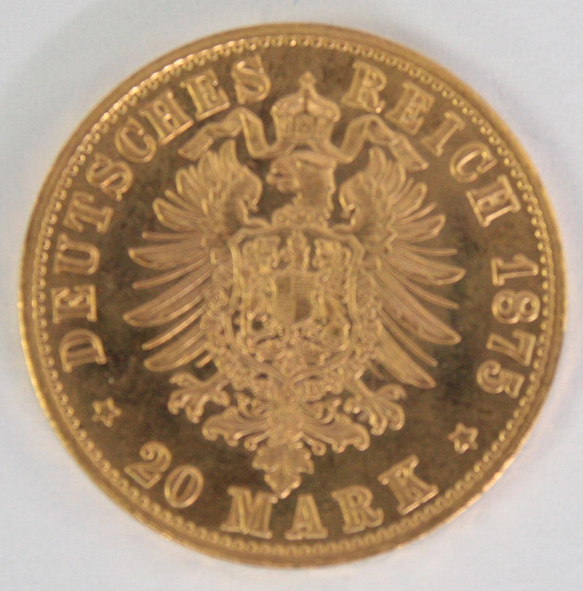 Hamburg 1875, 20 Mark-2