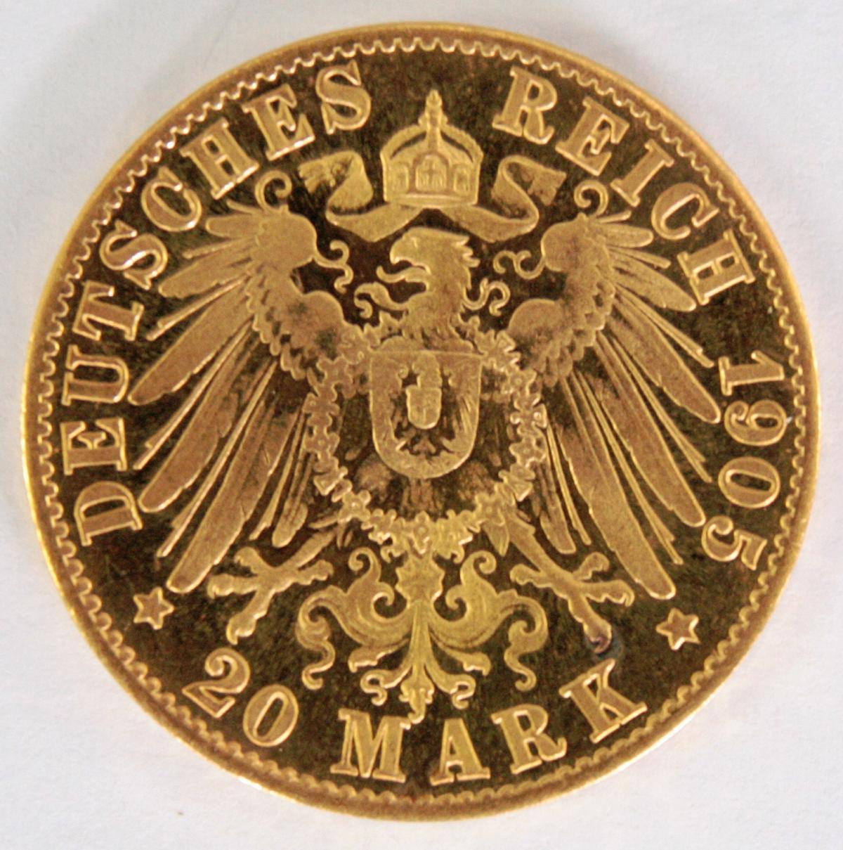 Preußen 1905, 20 Mark, Wilhelm II-2