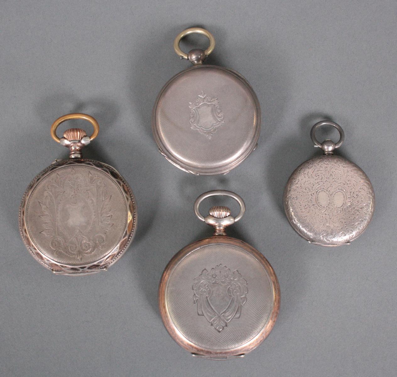 Sammlung silberne Taschenuhren um 1900-2