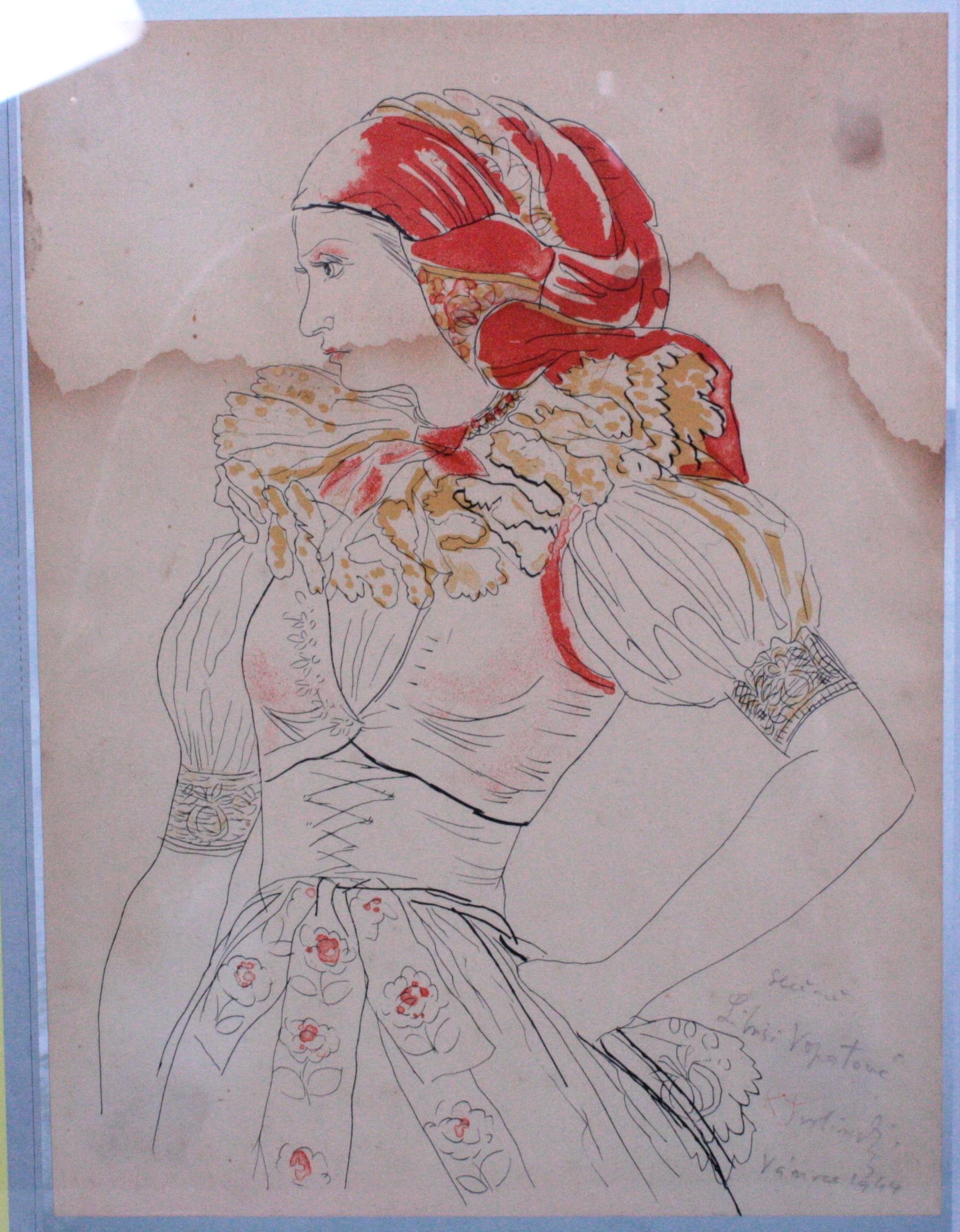 Karel SVOLINSKY (1896-1986). Frau in Tracht-2