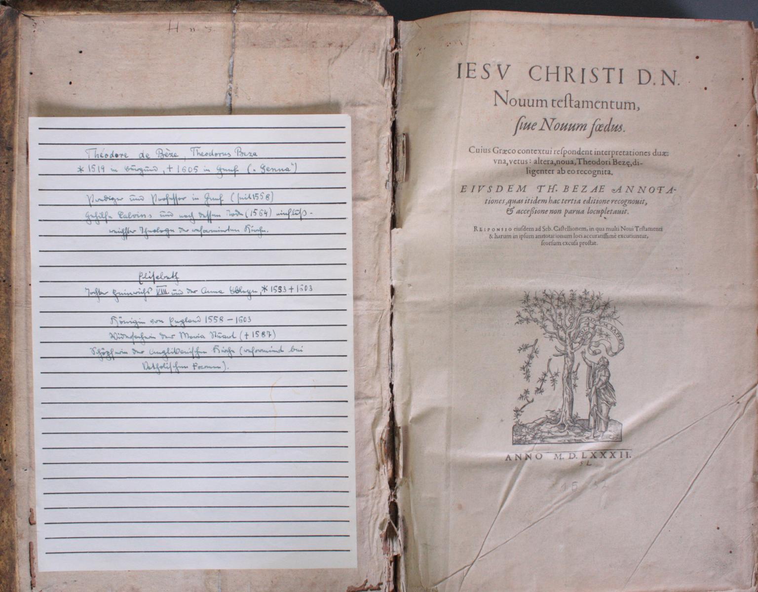 Griechische-Lateinische Bibel, Novum Testamentum 1582-2