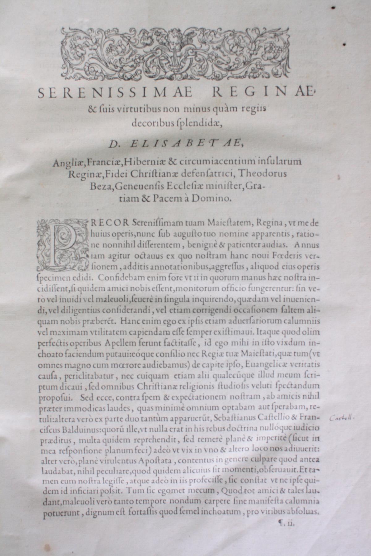 Griechische-Lateinische Bibel, Novum Testamentum 1582-6