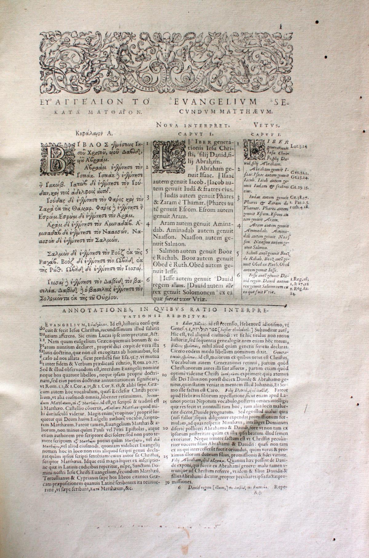 Griechische-Lateinische Bibel, Novum Testamentum 1582-7