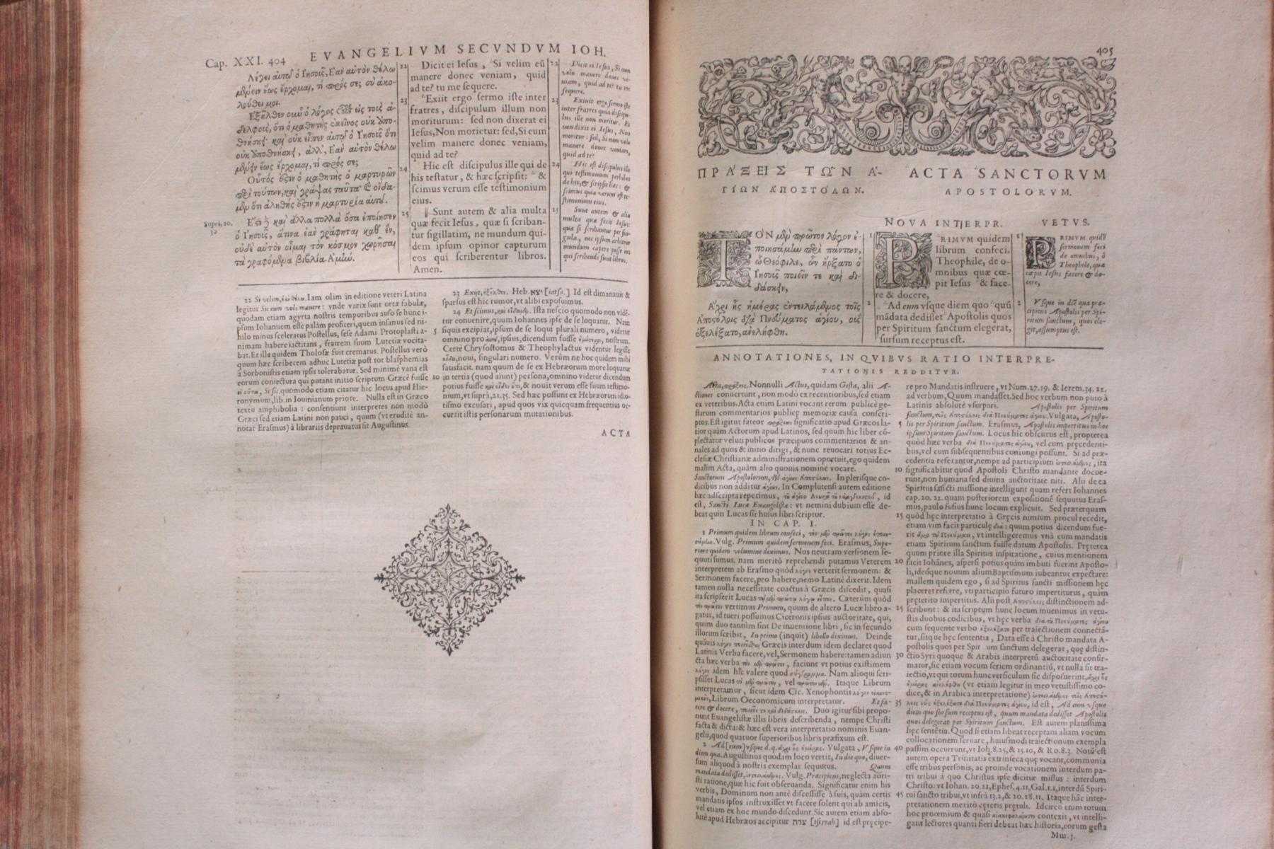 Griechische-Lateinische Bibel, Novum Testamentum 1582-9