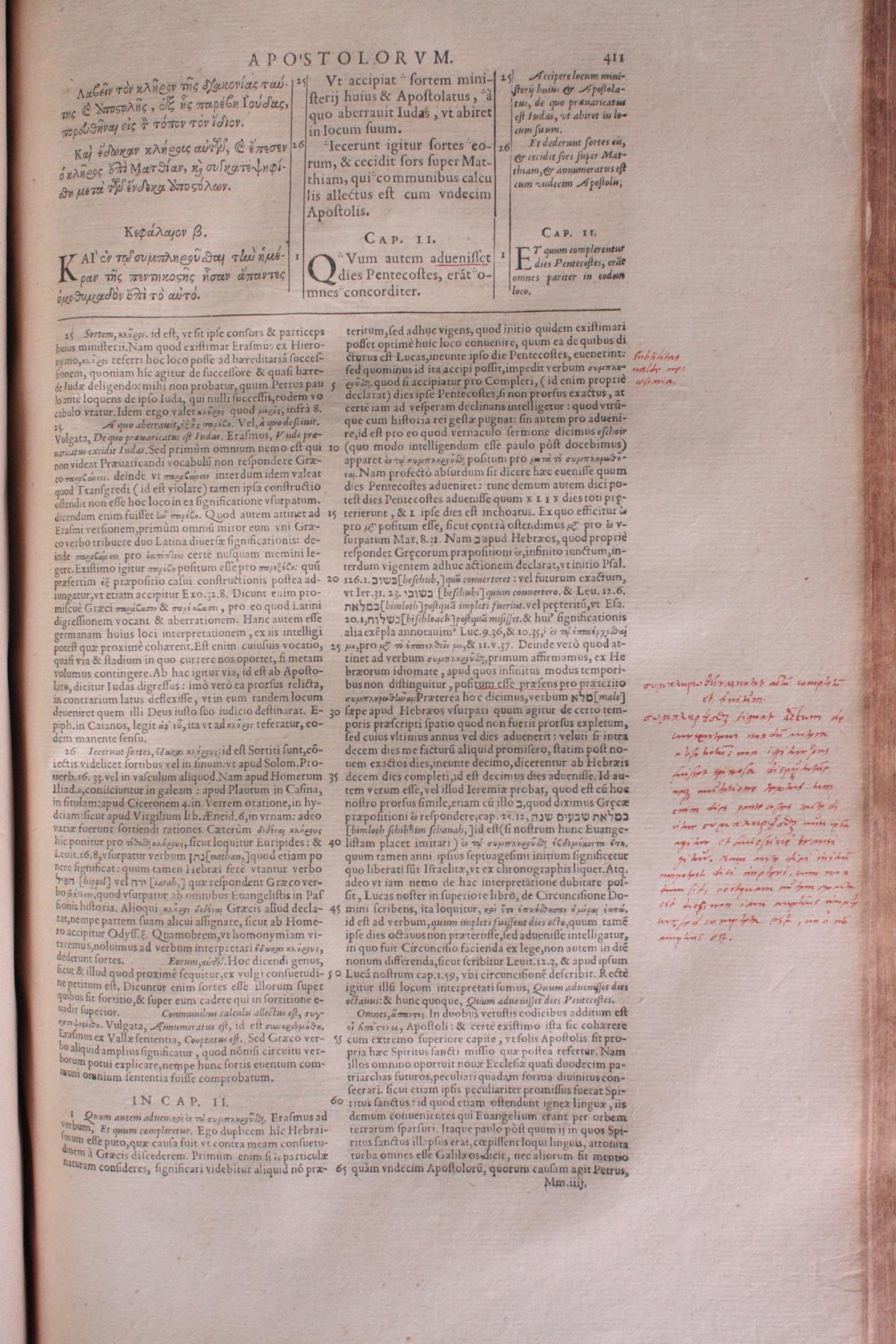 Griechische-Lateinische Bibel, Novum Testamentum 1582-10
