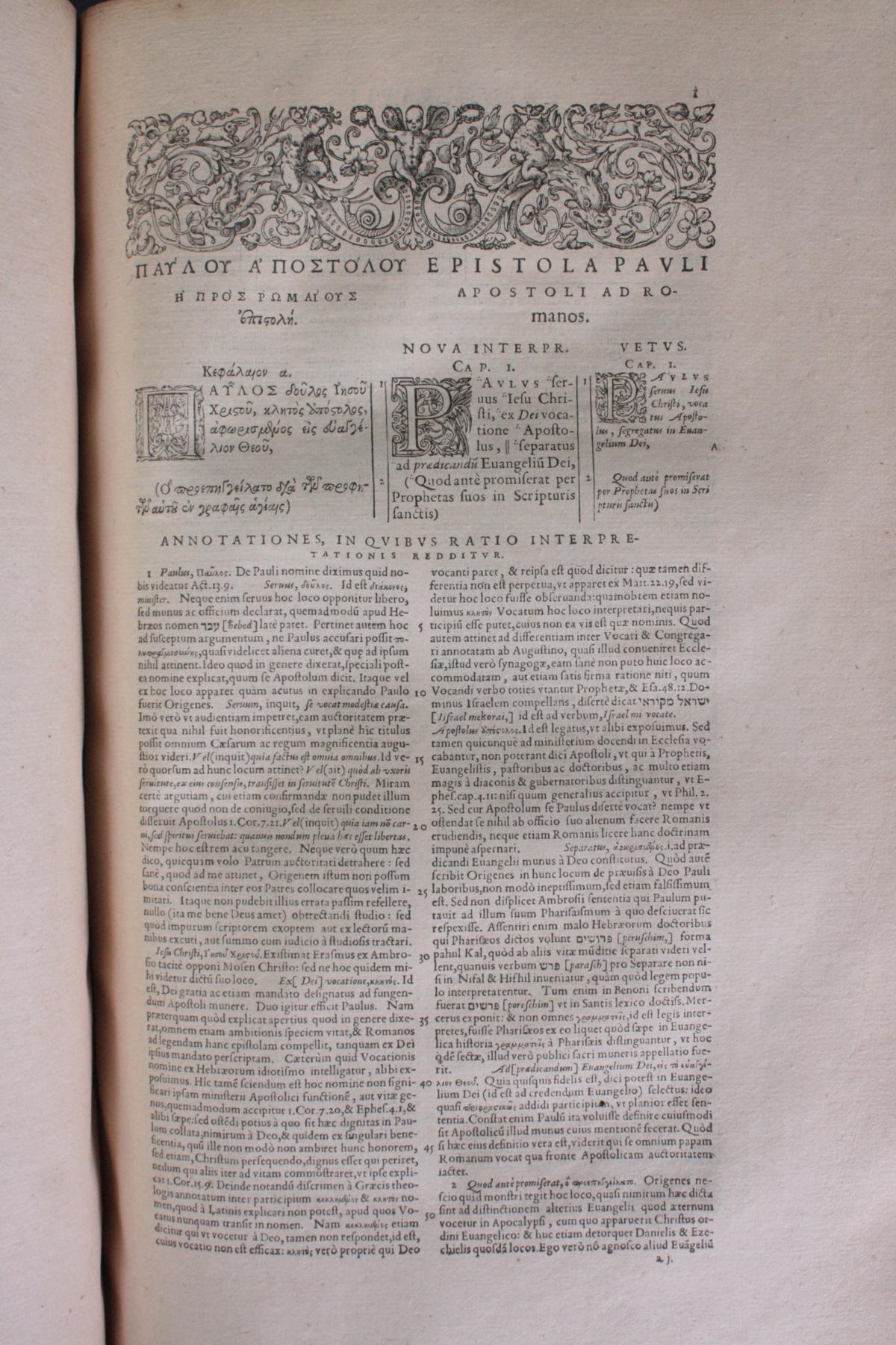 Griechische-Lateinische Bibel, Novum Testamentum 1582-12