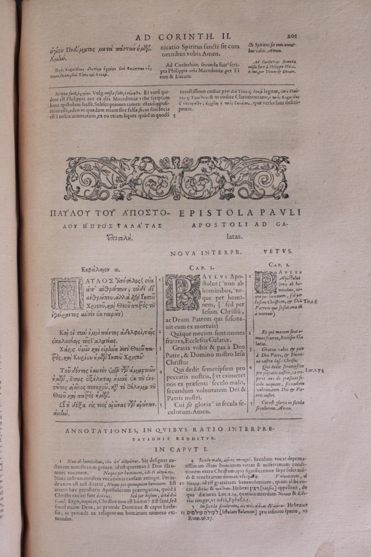 Griechische-Lateinische Bibel, Novum Testamentum 1582-13