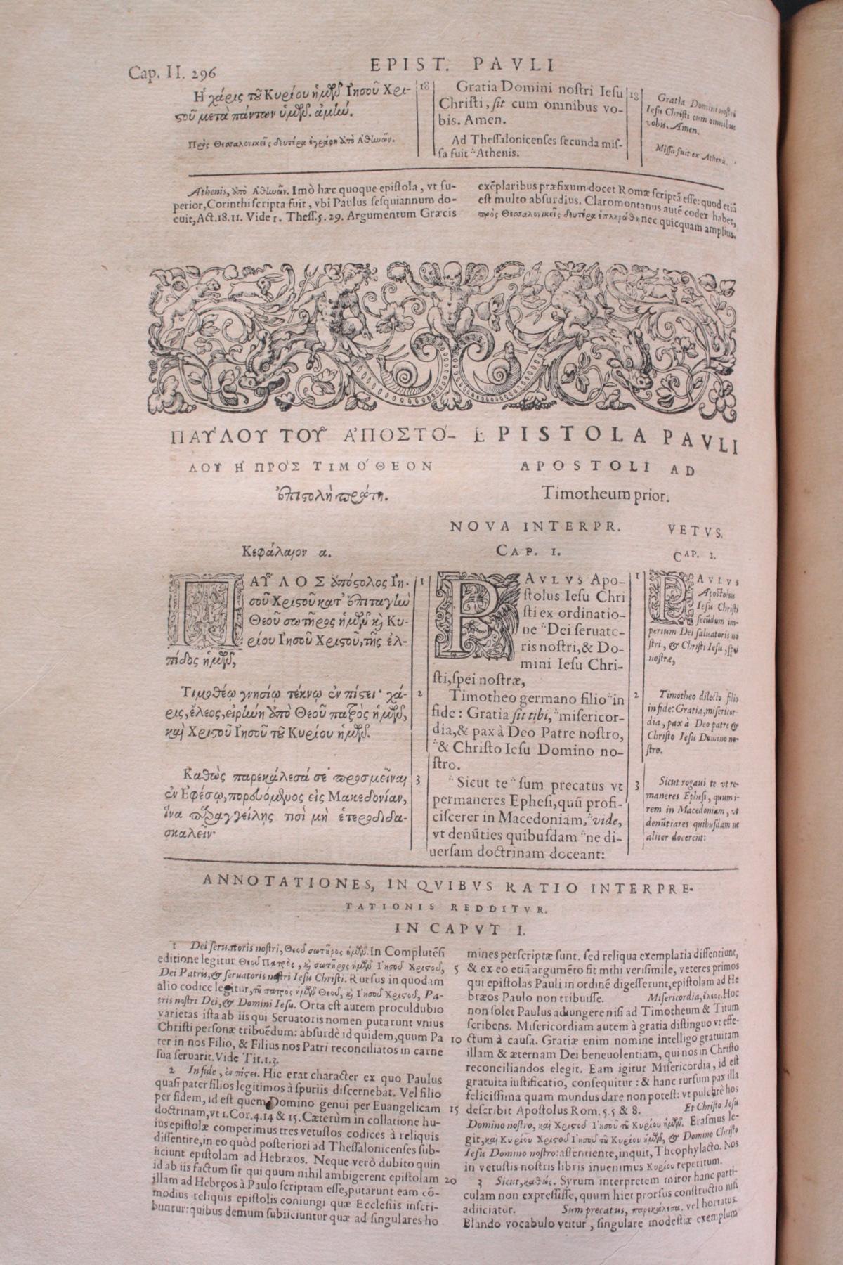 Griechische-Lateinische Bibel, Novum Testamentum 1582-14