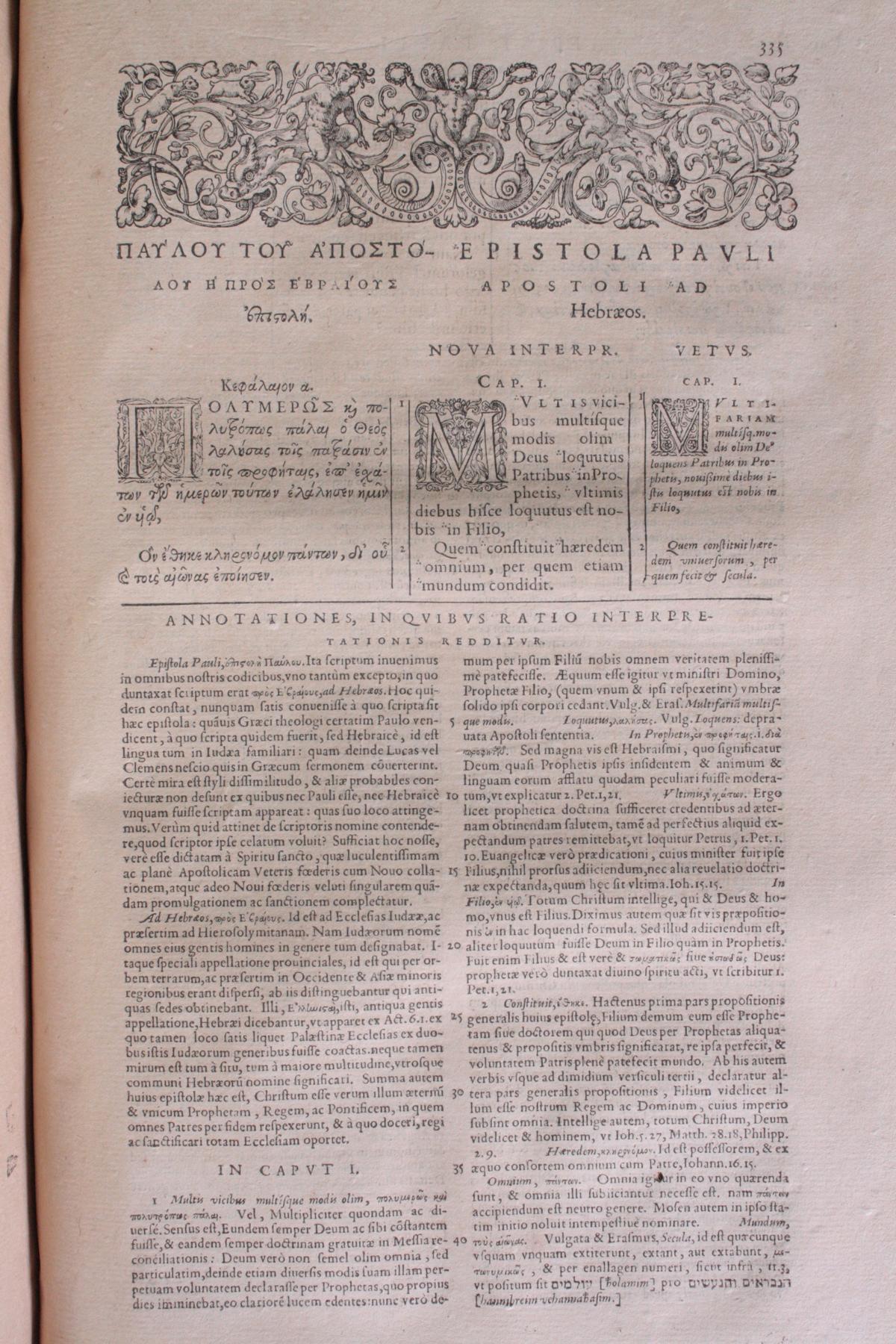 Griechische-Lateinische Bibel, Novum Testamentum 1582-15