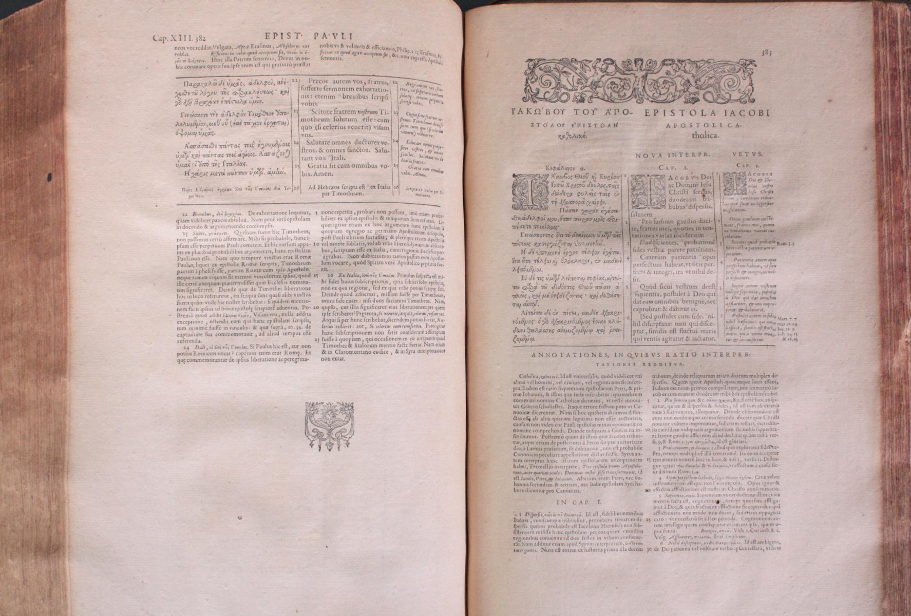 Griechische-Lateinische Bibel, Novum Testamentum 1582-16