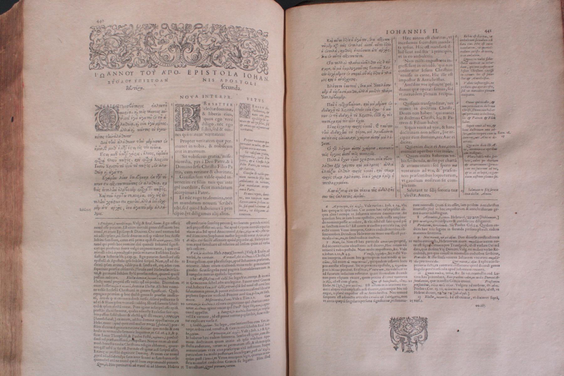 Griechische-Lateinische Bibel, Novum Testamentum 1582-18