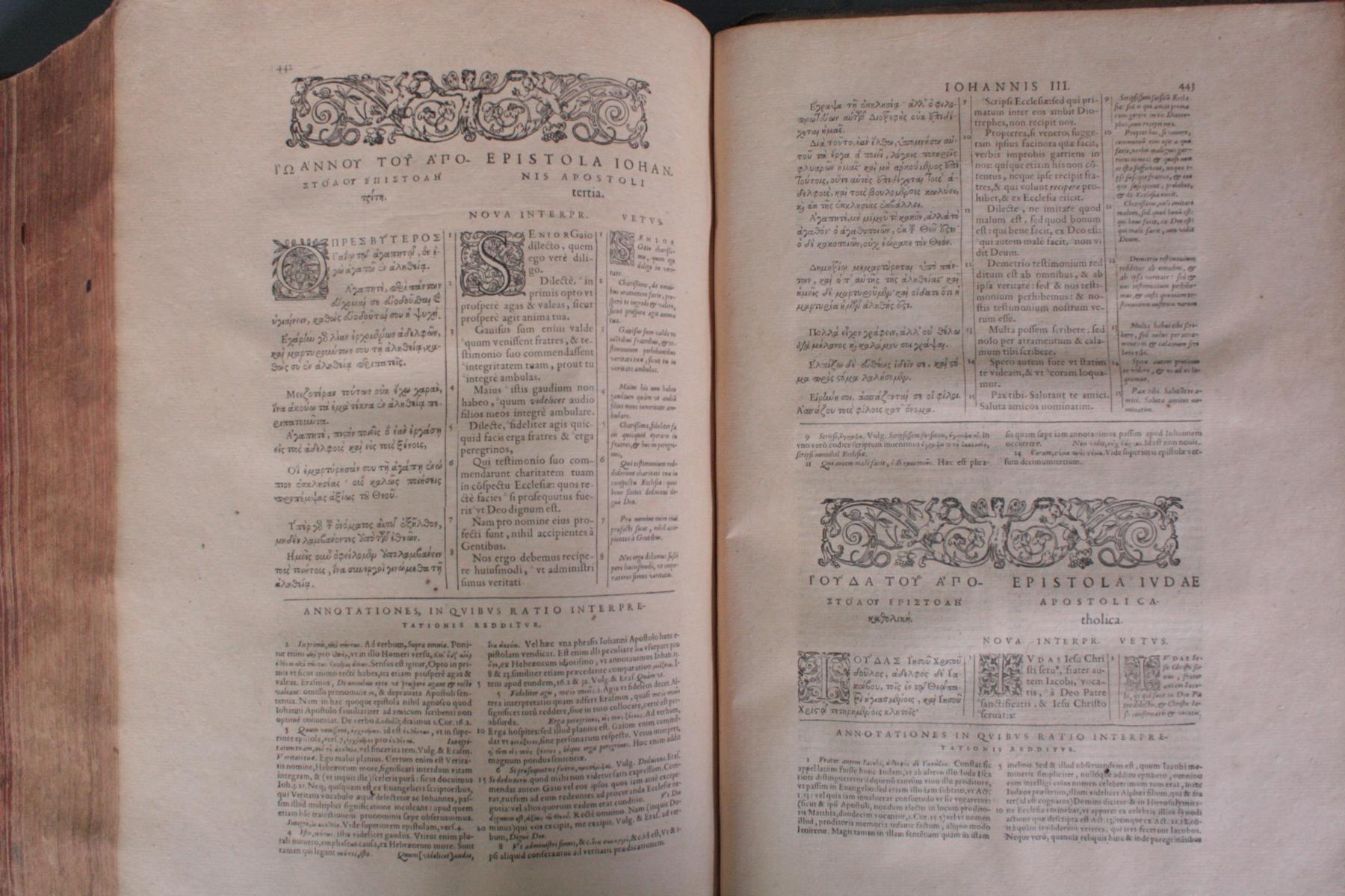 Griechische-Lateinische Bibel, Novum Testamentum 1582-19