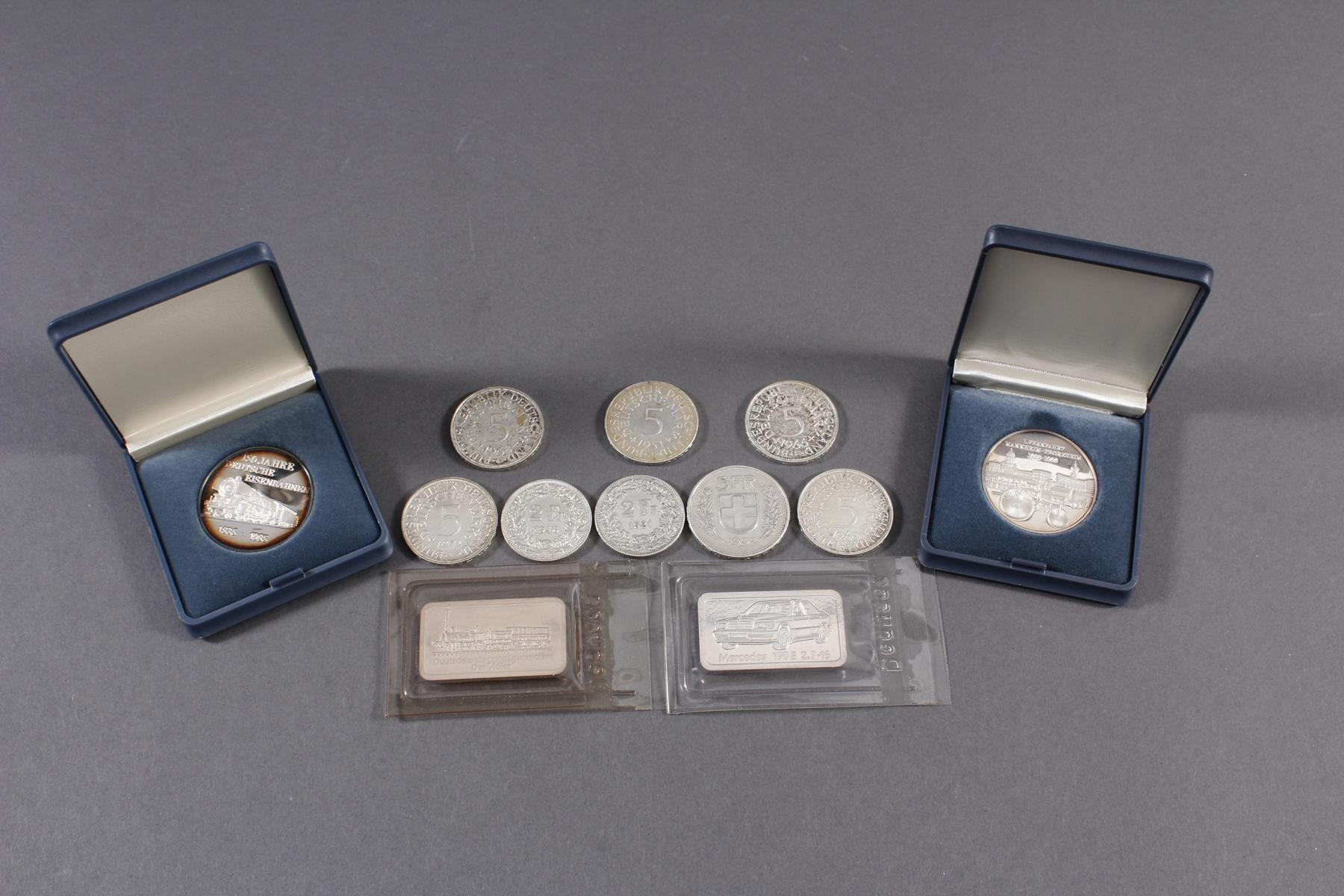 Silber Münz- / Barren- / Medaillenkonvolut