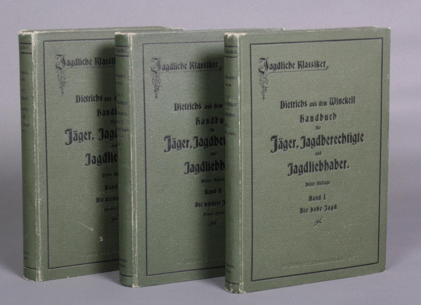 Handbuch für Jäger in Drei Bänden. Dietrichs aus dem Winckell, Band I-III